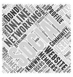 What is Social Networking Word Cloud Concept vector