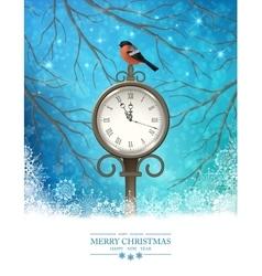Winter Christmas Scene Background vector image vector image
