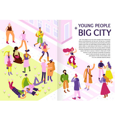 Young street fashion infographics vector
