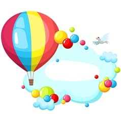 air balloon vector image vector image