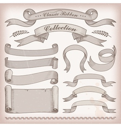 classic ribbons vector image