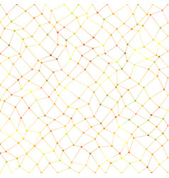 colorful abstract chaotic rectangle mesh vector image vector image