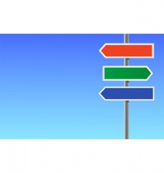 colour blank directional sign vector image