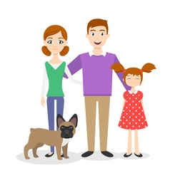 family portrait Mom Dad daughter vector image vector image