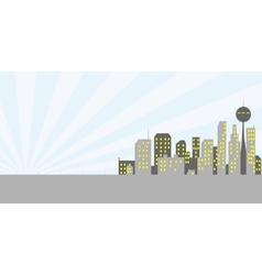 Retro metropolice vector image vector image