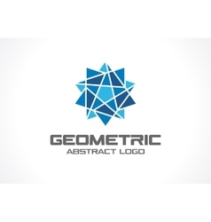 Abstract business company logo Social media vector image vector image