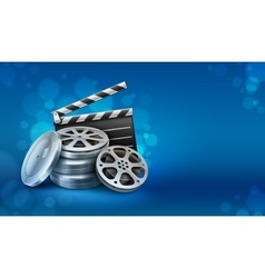 Movie film disks with vector image