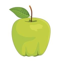 One full green apples vector image