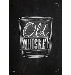 poster old whiskey vector image