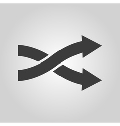 The intersecting arrows icon Exchange and turn vector image