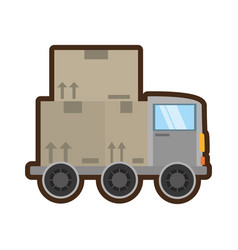 truck delivery transport concept vector image
