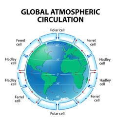 Atmosphere Global circulation vector image vector image