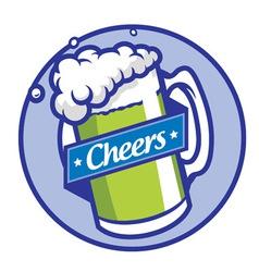 beer glass vector image