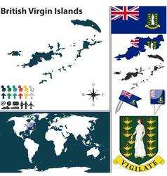 British Virgin Islands map world vector image