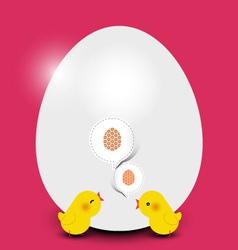 Easter chicks with easter egg vector image vector image