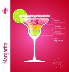 Margarita cocktail vector image vector image