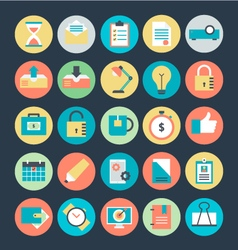 Office Colored Icons 3 vector image