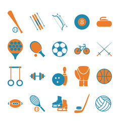 sport icon signs and symbols color set vector image