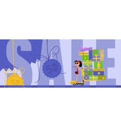 The big Sale vector image vector image