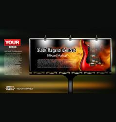 digital rock legend concert vector image
