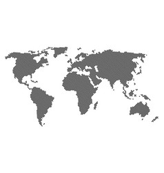 dotted world map isolated vector image