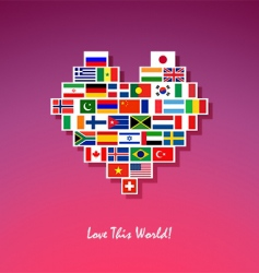 love this world vector image vector image