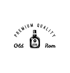 rum bottle and glass of craft beer icon pub bar vector image