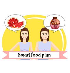 smart food plan poster vector image