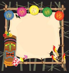 Tropical retro party invitation vector image vector image