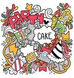 06-19-003 hand drawn party doodle happy birthday vector