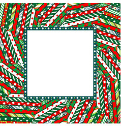 abstract christmas mosaic background with frame vector image