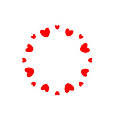 abstract love logo circle hearts frame vector image