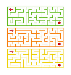 abstract rectangular isolated labyrinth there are vector image