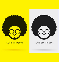 Afro head with glasses vector