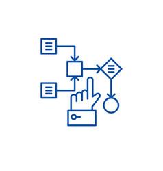 algorithm line icon concept algorithm flat vector image