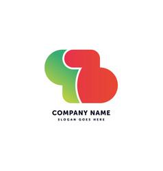 B letter logo creative abstract icon mark design vector
