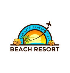 beach vacation resort outdoor recreation trip vector image