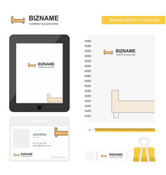 Bed business logo tab app diary pvc employee card vector