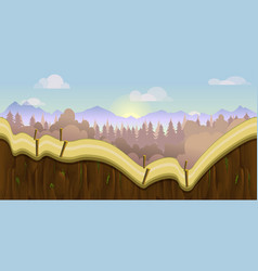 Biautiful landscape game background with vector