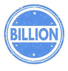 billion sign or stamp vector image