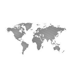 black halftone jewish star david dotted world vector image