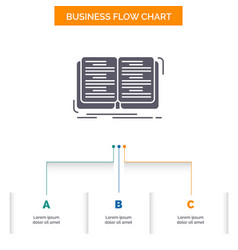 book education lesson study business flow chart vector image