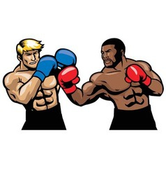 Boxing fight vector