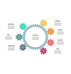 Business infographics organization chart with 7 vector