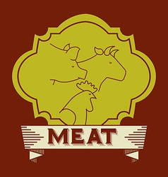 butchery house vector image