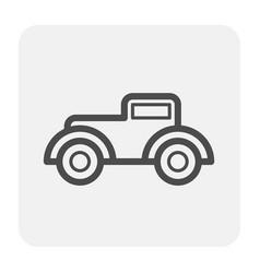 car icon black vector image