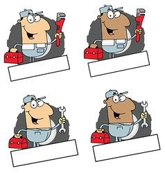 Cartoon plumbers vector