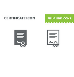 certificate icon vector image