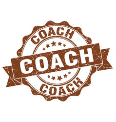 Coach stamp sign seal vector