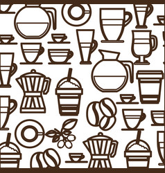 Coffee tools and equipment icon vector